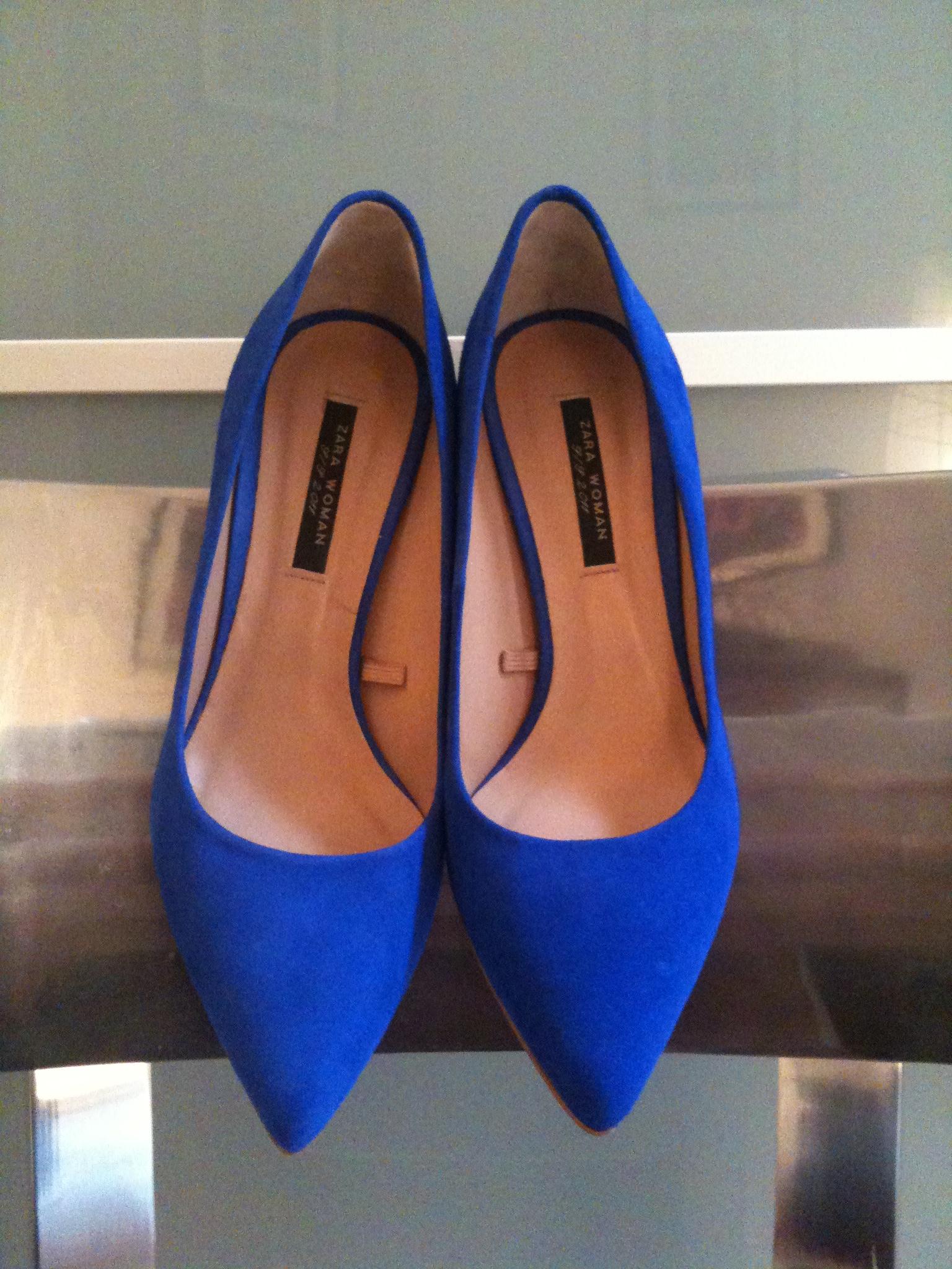 1c51966782e2f Escarpins Bleu Petit Talon toutoumiaou.fr