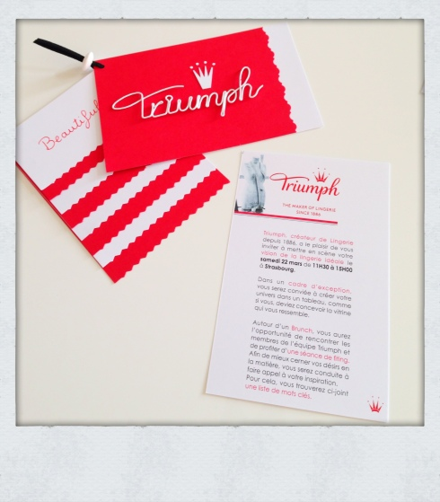 Invitation Triumph lingerie