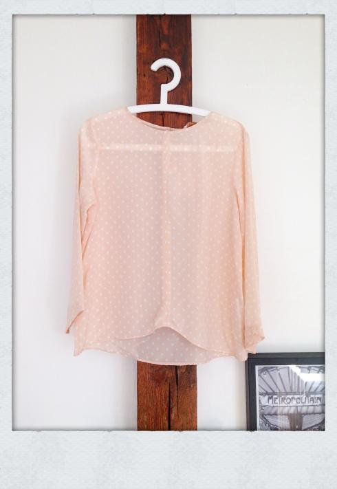 blouse à pois Zara