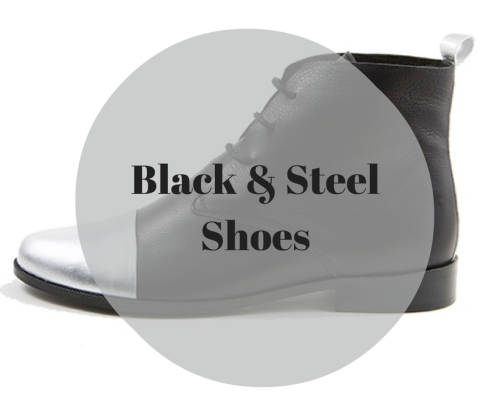 Black and steel shoes