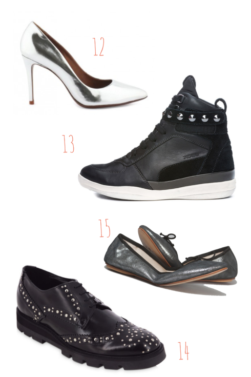 Black and steel shoes - sélection shopping