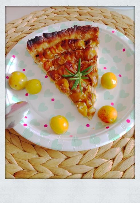 Tarte mirabelle romarin et crème d'amande
