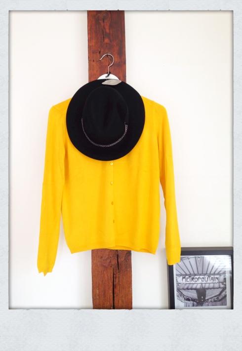 Gilet jaune moutarde zara