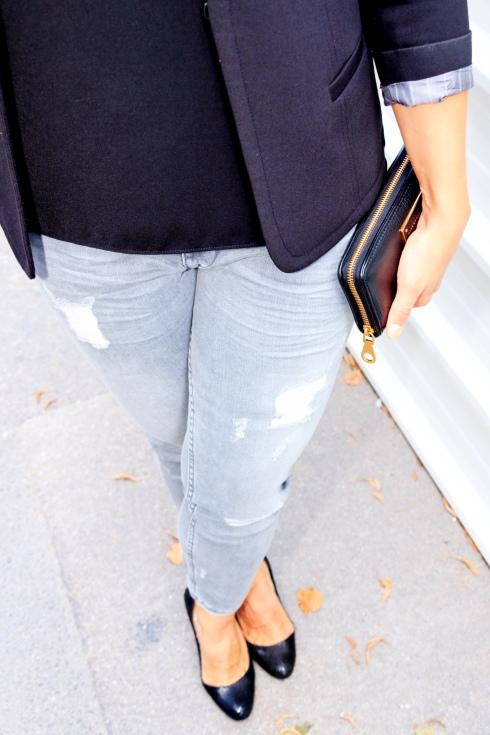 Pantalon Gris zara