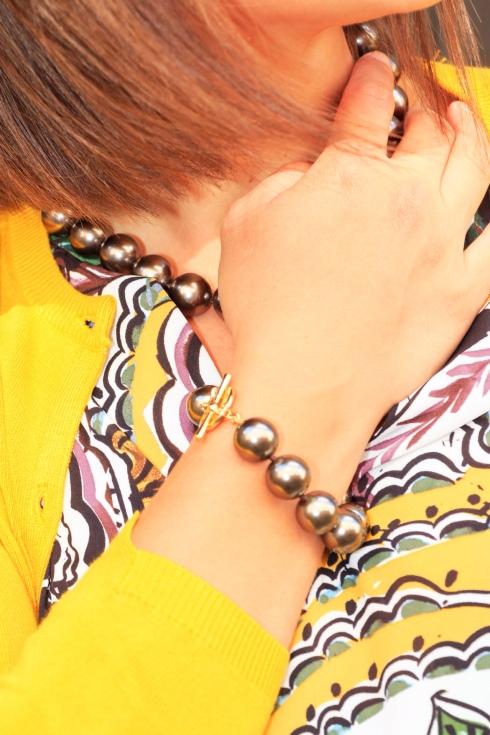 collier perles monet