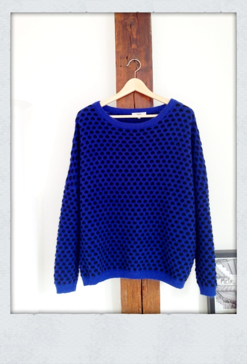 Pull bleu et noir Suncoo Paris