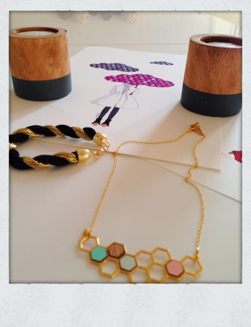 Bracelt noir et or Martingale