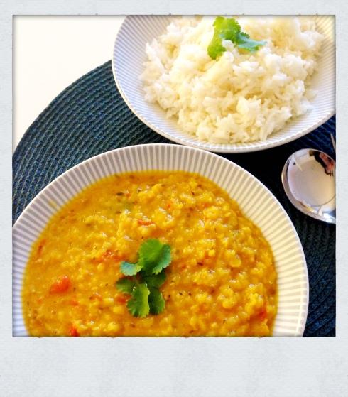 soupe indienne épicée aux lentilles corail